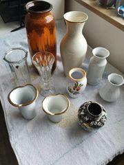 Glas und Porzellan