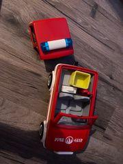 Playmobil Feuerwehr Auto mit Anhänger