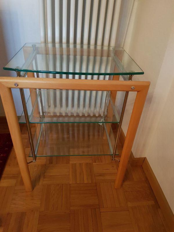 TV-Board Glas Holz hochwertig