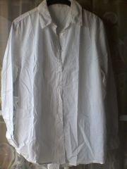 Bluse - Damen - langarm - weiß - Gr 40