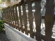 Balkongeländer Verkleidung aus Holz - gebrauchter Zustand
