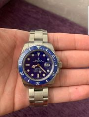 Rolex Uhr Silber Submariner Automatik