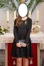 schwarzes Konfirmationskleid Ballkleid - Größe 158