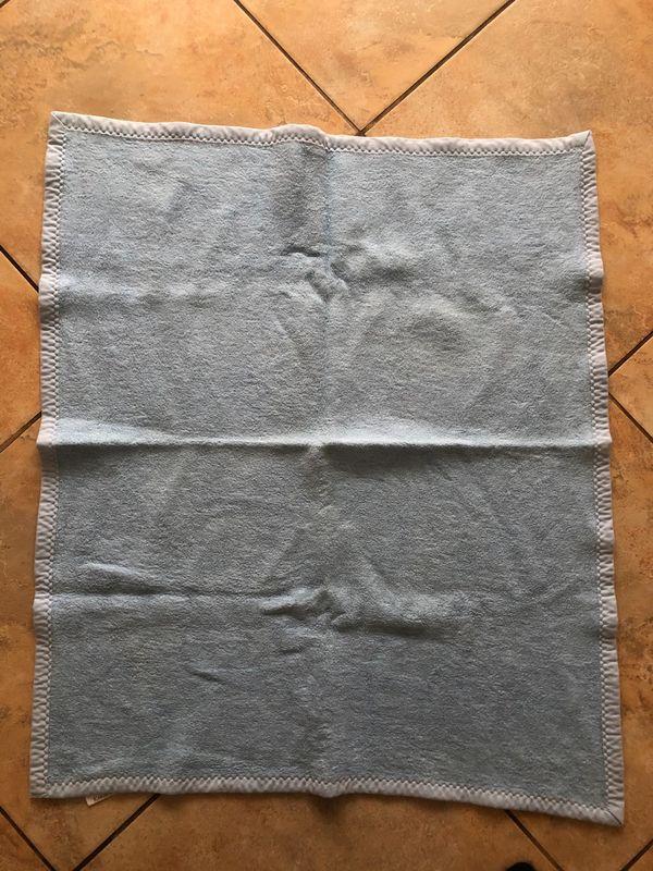 Babydecke hellblau 100 Baumwolle gut
