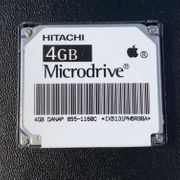 Hitachi 4GB Microdrive aus Apple