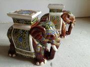 Verkaufe 2 Große Pflanzen-Elefanten