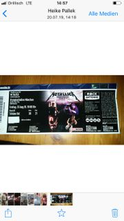 Metallica Ticket 23 08 19