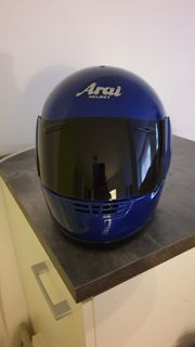 Motorrad-Helm in Blau Größe M