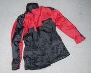 Modeka-Motorradjacke rot schwarz Modell 8103