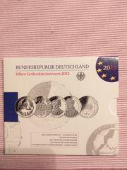 5x 10 Euro 2013 Silber-Gedenkmünzenset