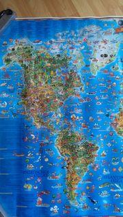 Plakat Weltkarte für Kinder
