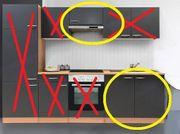 Küchenzeilentele mit Abzugshaube