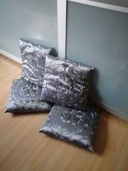 4 Kissen mit Elefantenmotiv