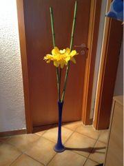 Sonnenblume fertig dekoriert in blauer