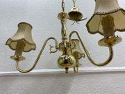 3-flammiger Kronleuchter Goldoptik mit LED