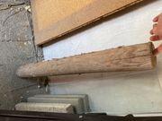 Unbehandelte Holzpalisaden