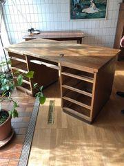 Schreibtisch Eichenholz massiv