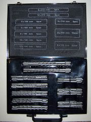 56-teiliges SDS Bohrerset in Metallkoffer