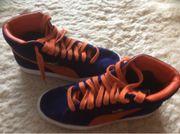 Puma Wildleder Sneaker blau orange