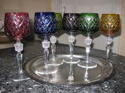 Kristall-Wein-Römer-Gläser handgefertigt