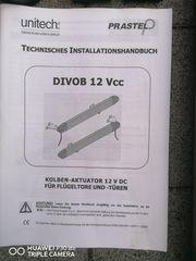 Kolben-Aktuator 12V DC Für Flügeltore