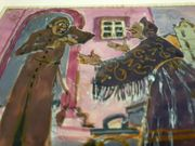 Gemälde Fritz Arlt 1930 Pfarrer