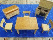 alte Puppenstubenmöbel Küche 7 Teile