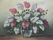 Ölgemälde Flieder Strauss Vase Design