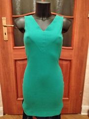 Shirtkleid grün ärmellos Gr 34