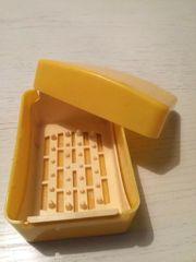DDR Plastikseifendose Seifendose gelb