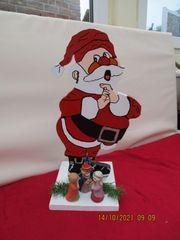 Weihnachtsmann als Deko