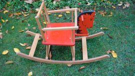 Holzspielzeug - Schaukelpferd Babysitz 60 70er Jahre