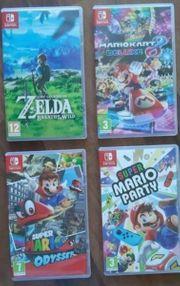 Verschiedene Nintendo SWITCH Spieke