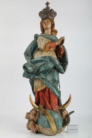 Holz Figur 19 Jh Mondsichel -