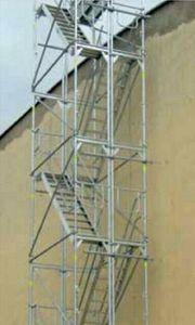 Gerüsttreppe Treppenturm Fluchttreppe 12m Dachdeckertreppe