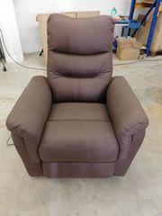 Relaxsessel mit Aufstehhilfe braun Sessel