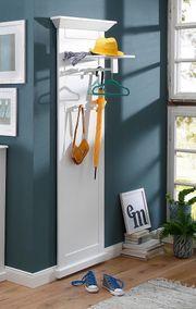 NEU Wand-Paneel Flur-Garderobe weiß Garderobenpaneel