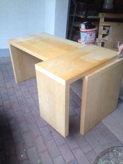 Schreibtisch mit ausziehbarem Seitenteil
