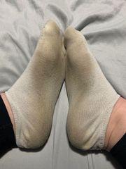 Getragene weiße Socken Gr39