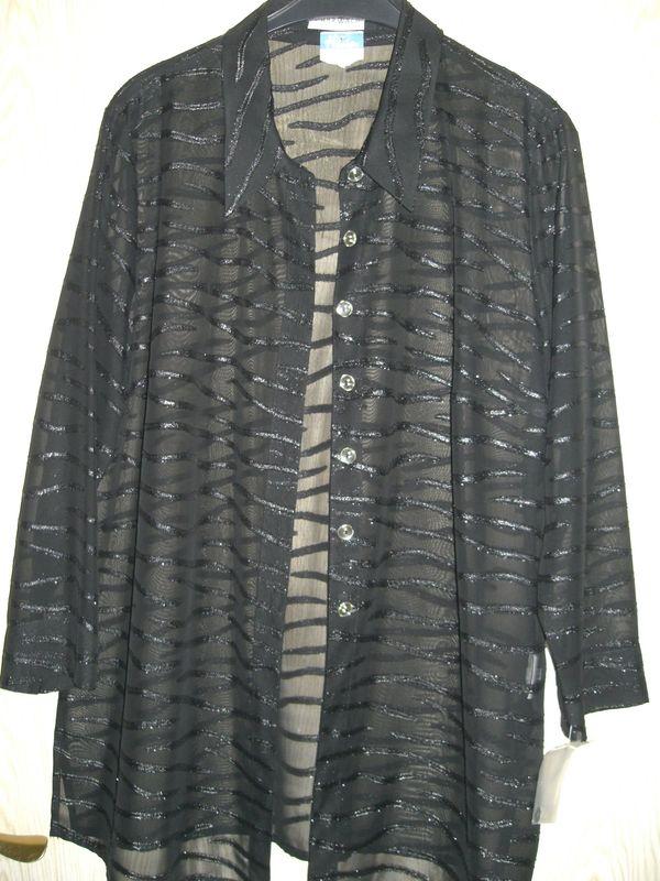 schwarze neue exklusive transparente Bluse