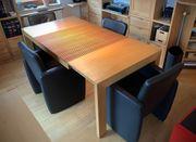 4 x Esstischledersessel -Stühle