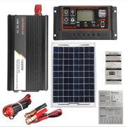 komplette Solaranlage - Solarmodul - Solarladeregler - Inverter
