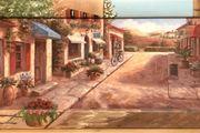 Wandgemälde Bild TOSCANA Italien 102x41cm