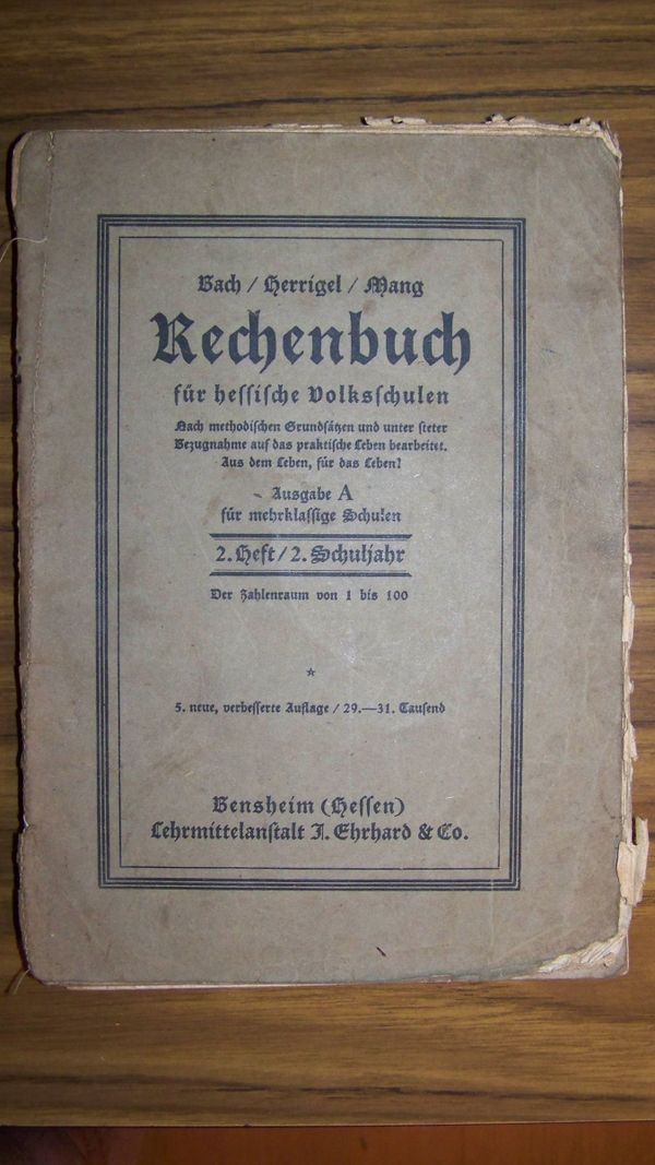 Rechenbücher 4Stück antik