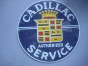 2 Blech- Reklameschild Chevrolet Cadillac