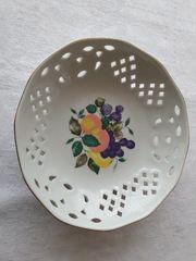 Porzellanschale antik handbemalt mit Früchten