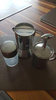 WMF Espressokocher und Milschaufschäumer