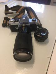 Spiegelreflexkamera Asahi Pentax MX mit