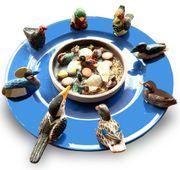 Vögelteller Teller blau ca 30