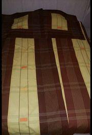 Bettwäsche Doppelpack von Kaeppel braun-gelbgrün